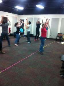 Henry 5 Movement rehearsal led by Dr. Jones