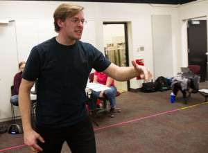 Rehearsal, Henry 5. Matthew Fife as Fluellen.