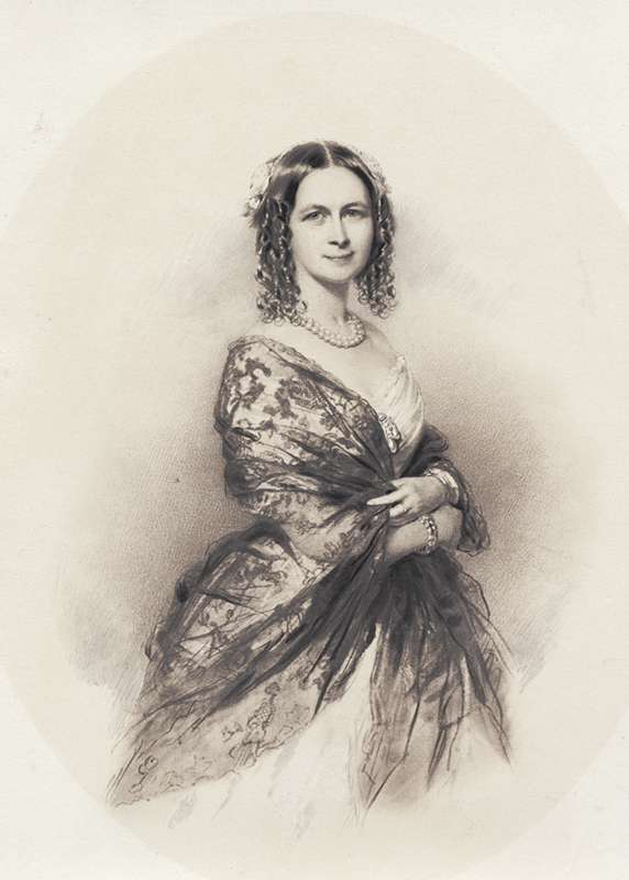 Jenny Lind was approximately 20 years old when Andersen, 35, first met her. This is a rendering of Lind in 1840, the year Andersen met her.