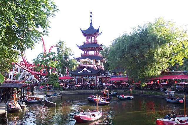 The Pagoda at Tivioli Gardens in Copenhagen, August 2012.