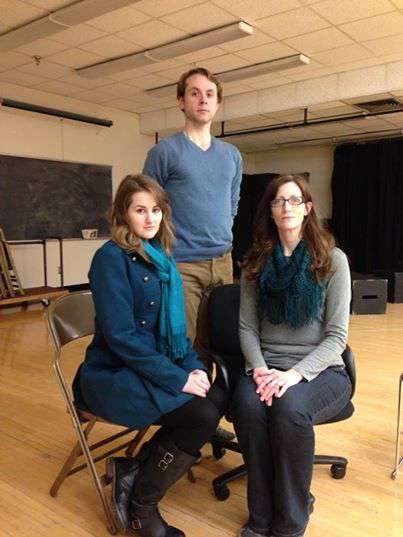Becky Maskell (Anne de Bourgh), Ted Bushman (Mr. Darcy) and Hillary Straga (Lady Catherine de Bourgh).