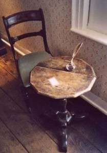 Jane Austen's writing table, on display at Chawton Cottage.