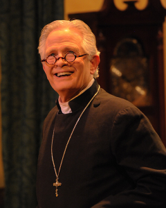 Rodger Sorensen plays the Bishop of Lax