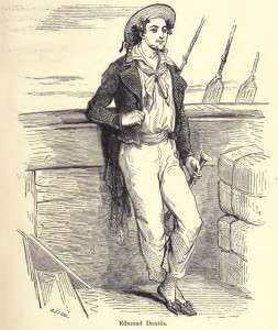 A drawing of Edmond Dantes from an 1888 edition.