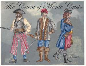 Three pirate costumes, designed by Lara Beene