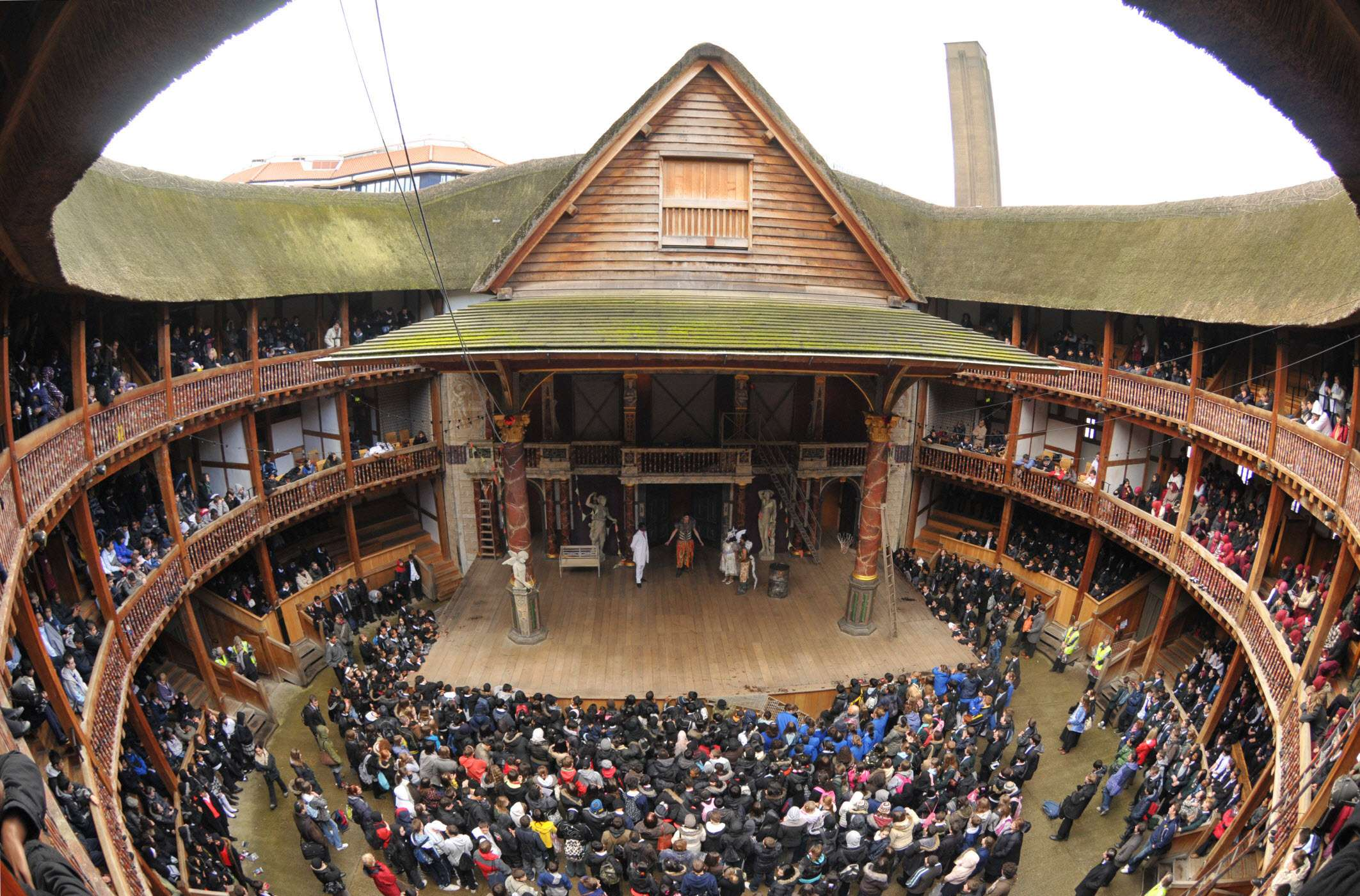 Shakespeare's Globe, the modern reconstruction of the Globe Theatre.