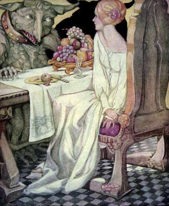 "Anne Anderson -""Beauty and the Beast"" -1911 (Public Domain)"