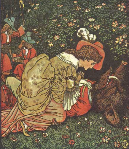 "Walter Crane- ""Illustration of Beauty and the Beast""-1874 (Public Domain)"