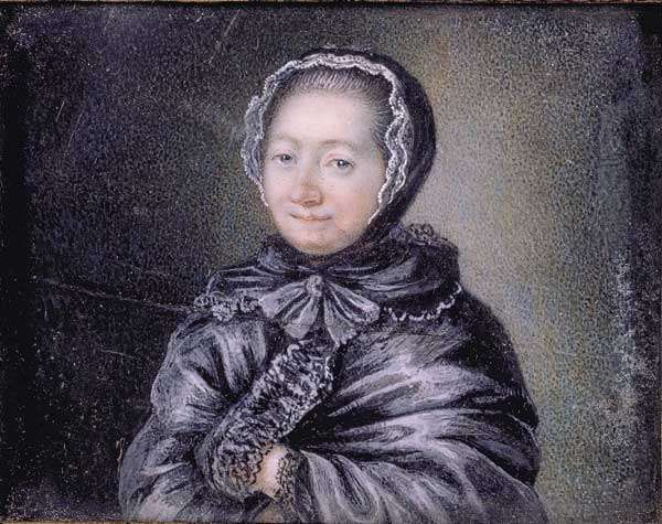Painting of Jeanne Marie Leprince de Beaumont