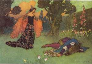 "Warwick Goble -""Beauty and the Beast""- 1913 (Public Domain)"