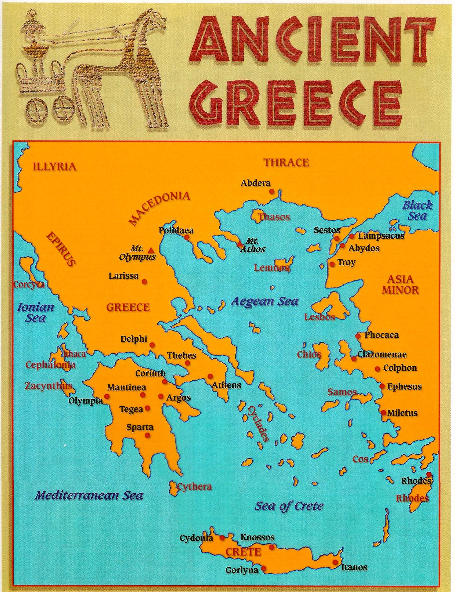 It's just a picture of Old Fashioned Ancient Greece Map Labeled